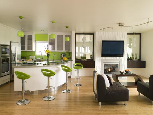 Open Kitchen Cum Living Room
