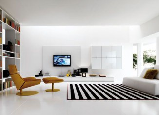 Wonderful white Living-Room idea