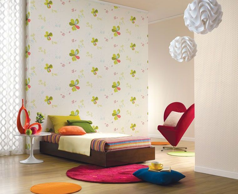 Flower wallpaper Kids Room