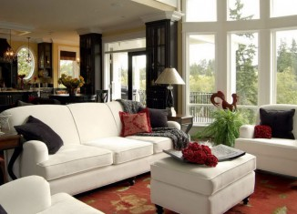 Open floor colorful living room design ideas