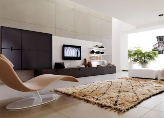 super modern living room