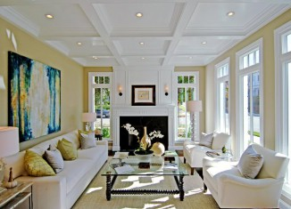 White living room idea