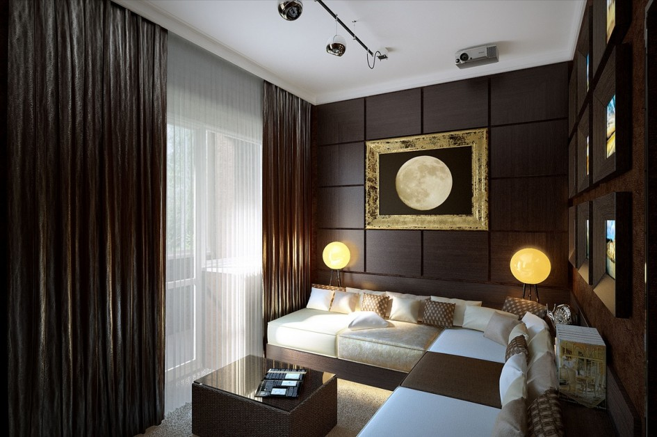 Brown-white-living-room Brown white living room