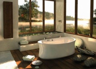 Central free stading bathtub