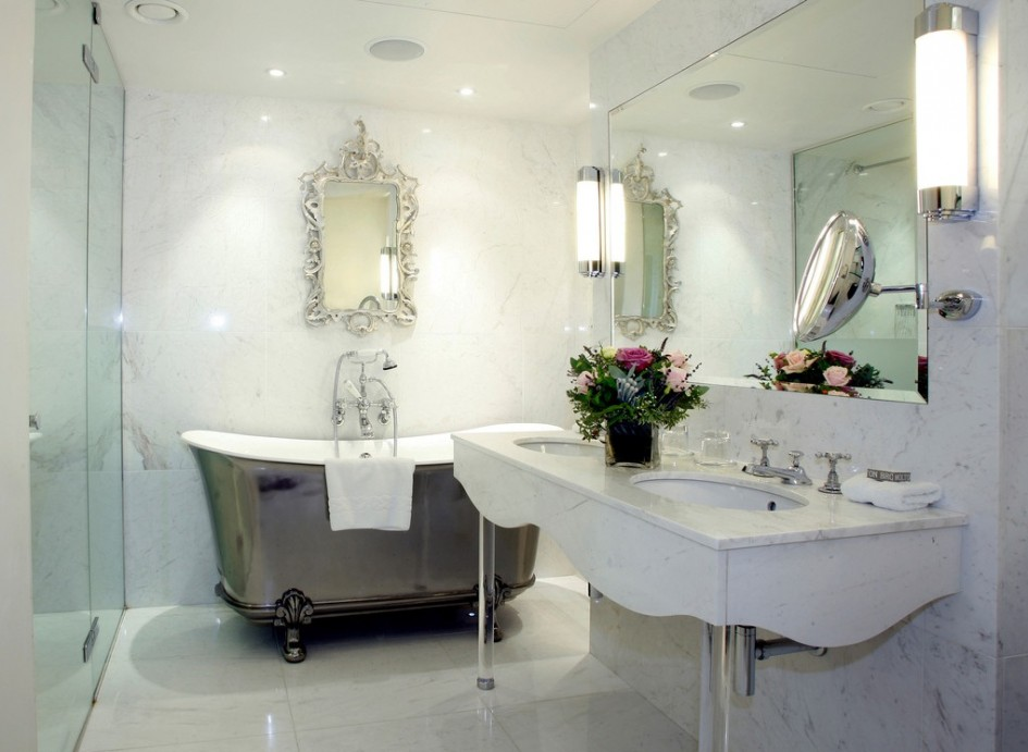 Chinese-style-bathroom-silver-bath-tub Chinese style bathroom silver bath tub