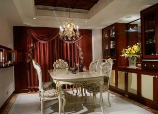 Classic elegant dining table