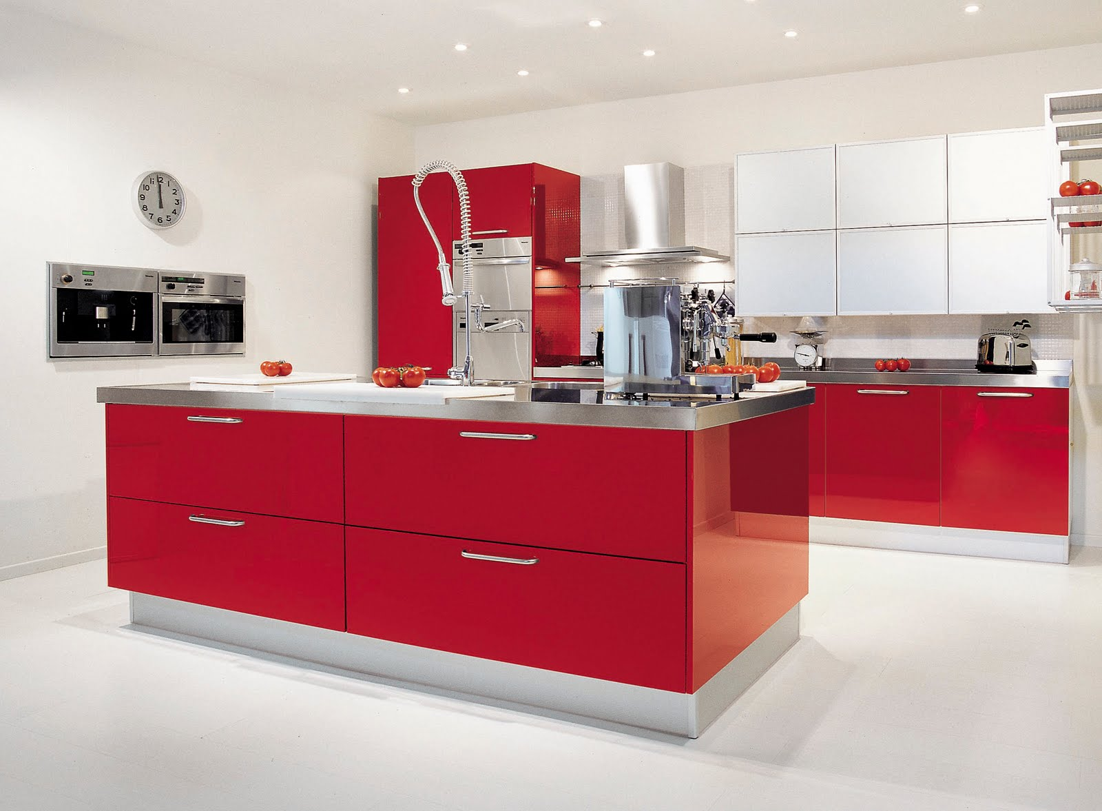 posts modern red color kitchen modern red kitchen design red color