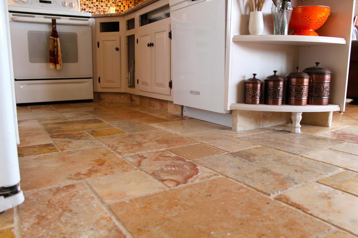 marble tiles kitchen  floor