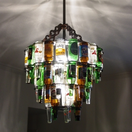 wine bottles as home decors (3)