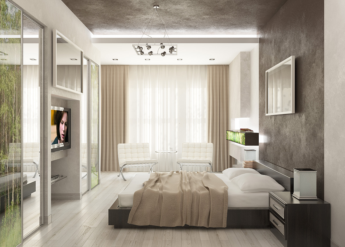 How to make your home look beautiful by spending less for Modern house interior design bedroom