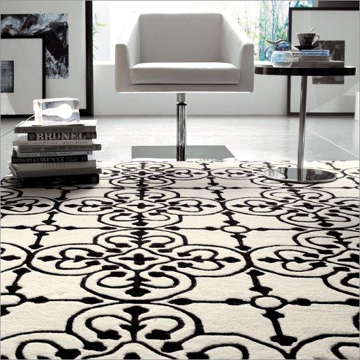 Stylish-black-white-floor-carpet Tips on how to buy a carpet