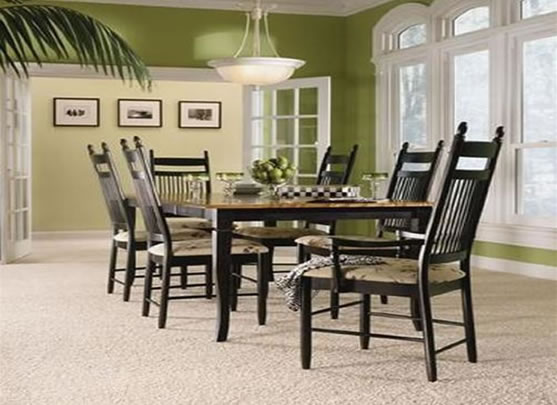 12 model carpeted dining room for Dining room flooring