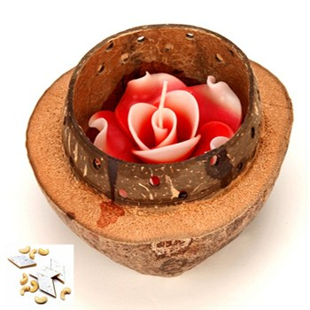 d13woodenshellcandle Scintillating Diwali Decoration Ideas