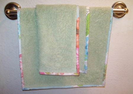 hand-towel-450x321 How to brighten the look of a bathroom Contd..