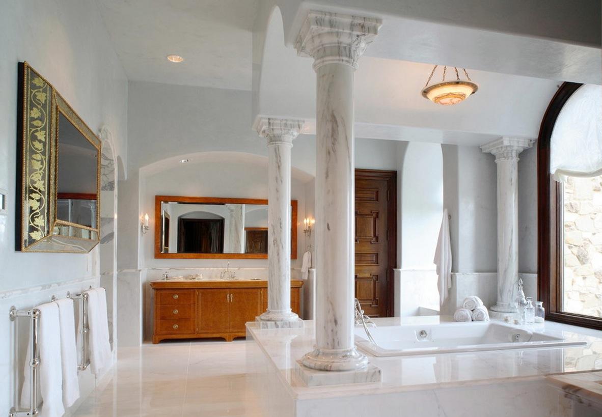 Column-ideas_bathroom-marble