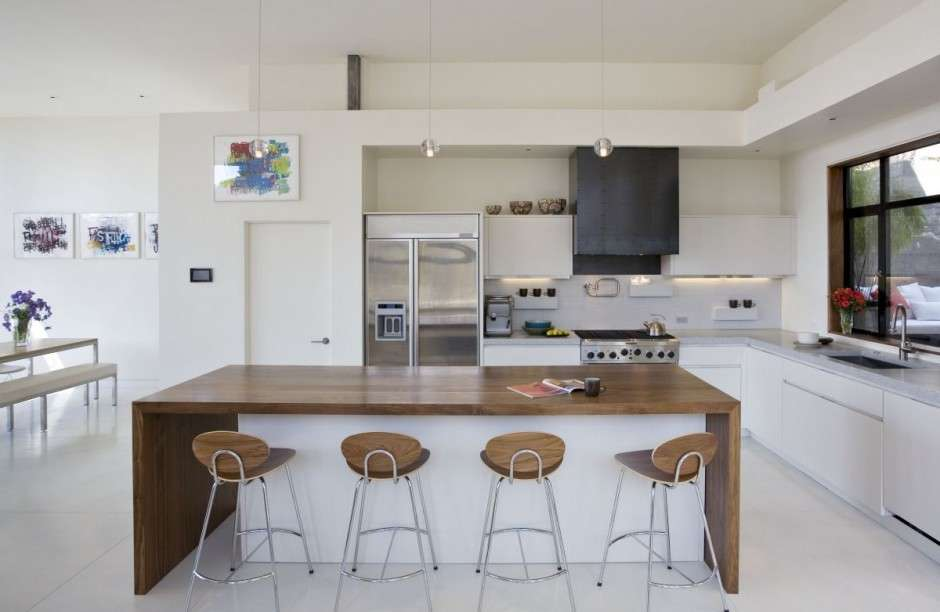 house-idea-open-kitchen Vitrified Tiles to give a contemporary look to the interior