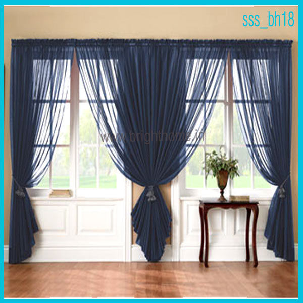 Curtain fabric that is best for your room interior for Blue curtain ideas for living room