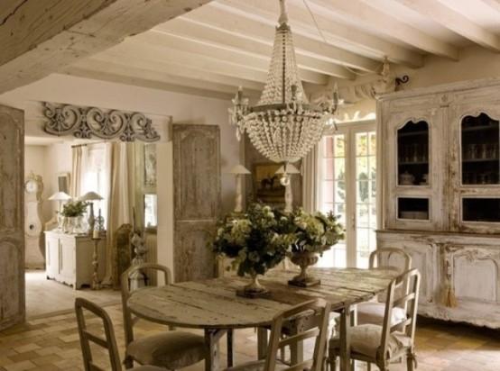 58317-Elegant-Shabby-Chic-Home How to create shabby chic home?