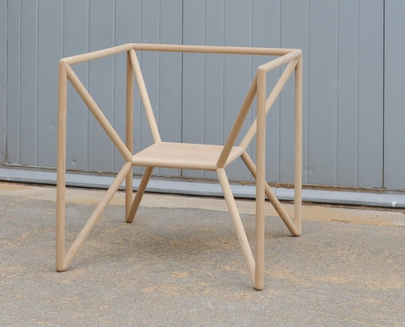 Unique-Geometric-Shaped-Chair-Made-of-Oak Is your home geometrically inclined?