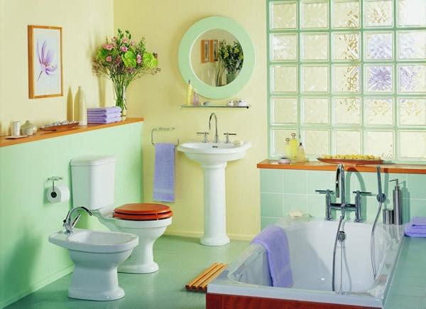 Pastel-Bathroom-1 How to make bathroom lively?