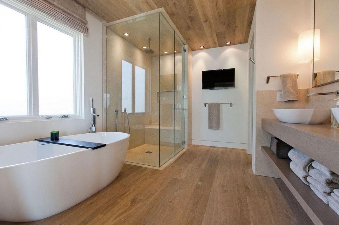 Stylish-Modern-Bathroom-Design-9 How to make bathroom lively?
