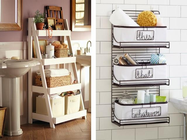 bathroom-storage-bins How to make bathroom lively?