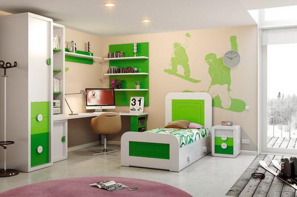 Boys-Room-with-Modern-Furniture-Set Furniture for kid's room