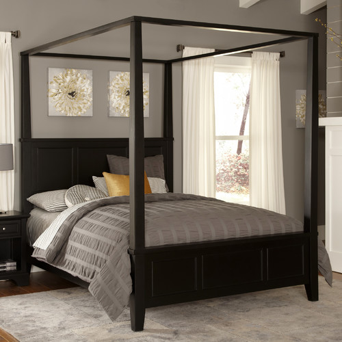 Home-Styles-Bedford-Canopy-Bed How to decorate home in a budget?