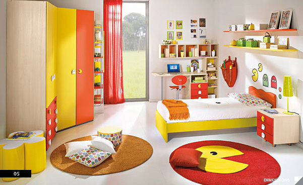 Pac-Man-Bedroom How to décor the living spaces?