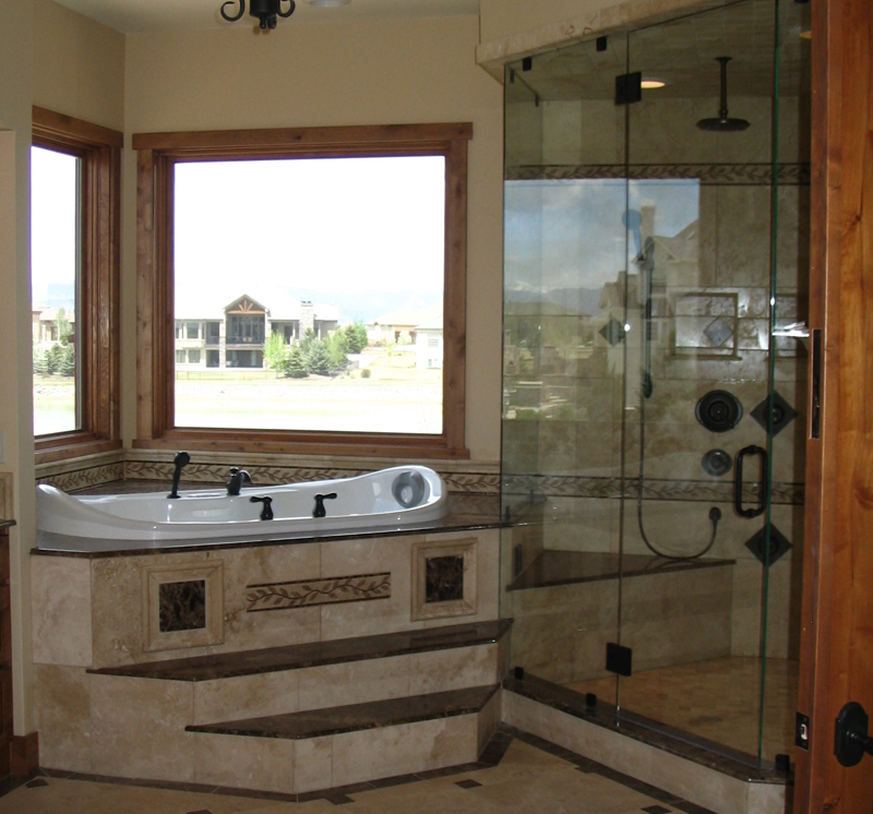Corner bathroom designs interior design ideas for Corner tub decorating ideas