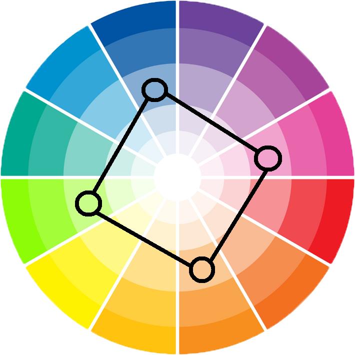 Square-color-scheme