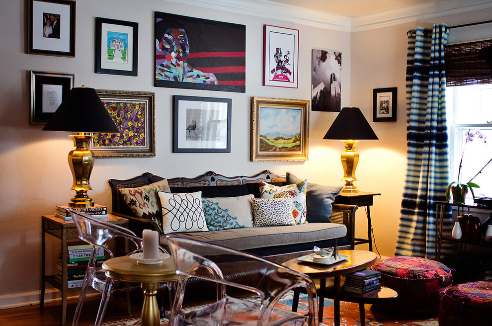 glass-living-room-chairs-design-also-captivating-wall-decor-feat-funky-small-lamp-shades-idea