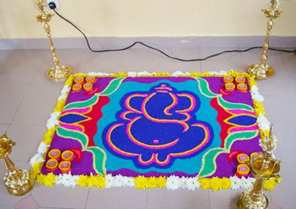 Ganpati-Rangoli-Decoration