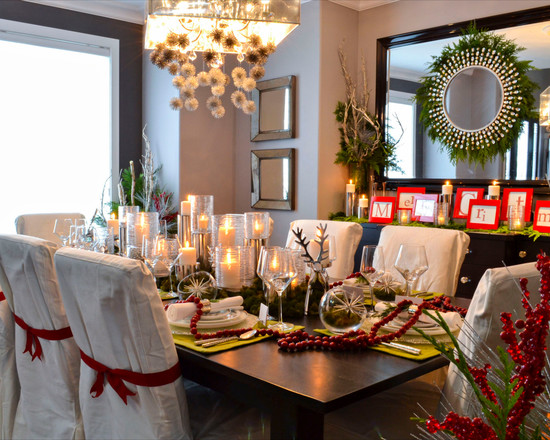 surprising-dining-table-decorated-with-candles-mirrors-display-cabinet-chandelier-christmas-centerpieces-for-table