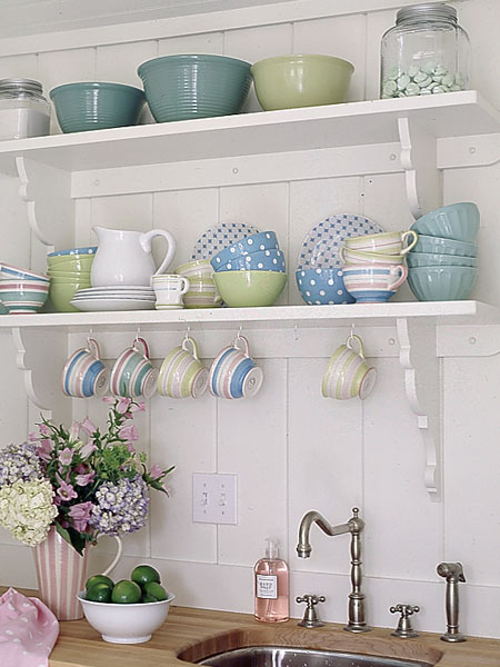 open-shelves-colorful-dishes Tricks on how to add style in your home