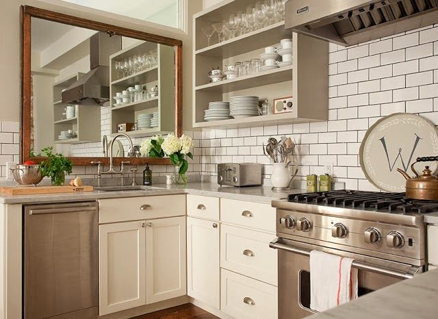 Design-Ideas-for-Small-Kitchens-mirrors How to design a small kitchen?