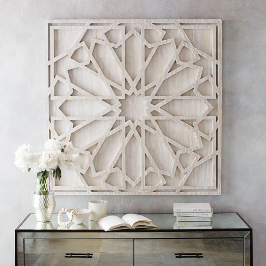 whitewashed-wood-geometric-textured-wall-art Monsoon Friendly Home Decoration Trends